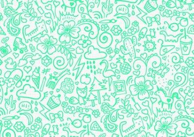 Doodles Teal